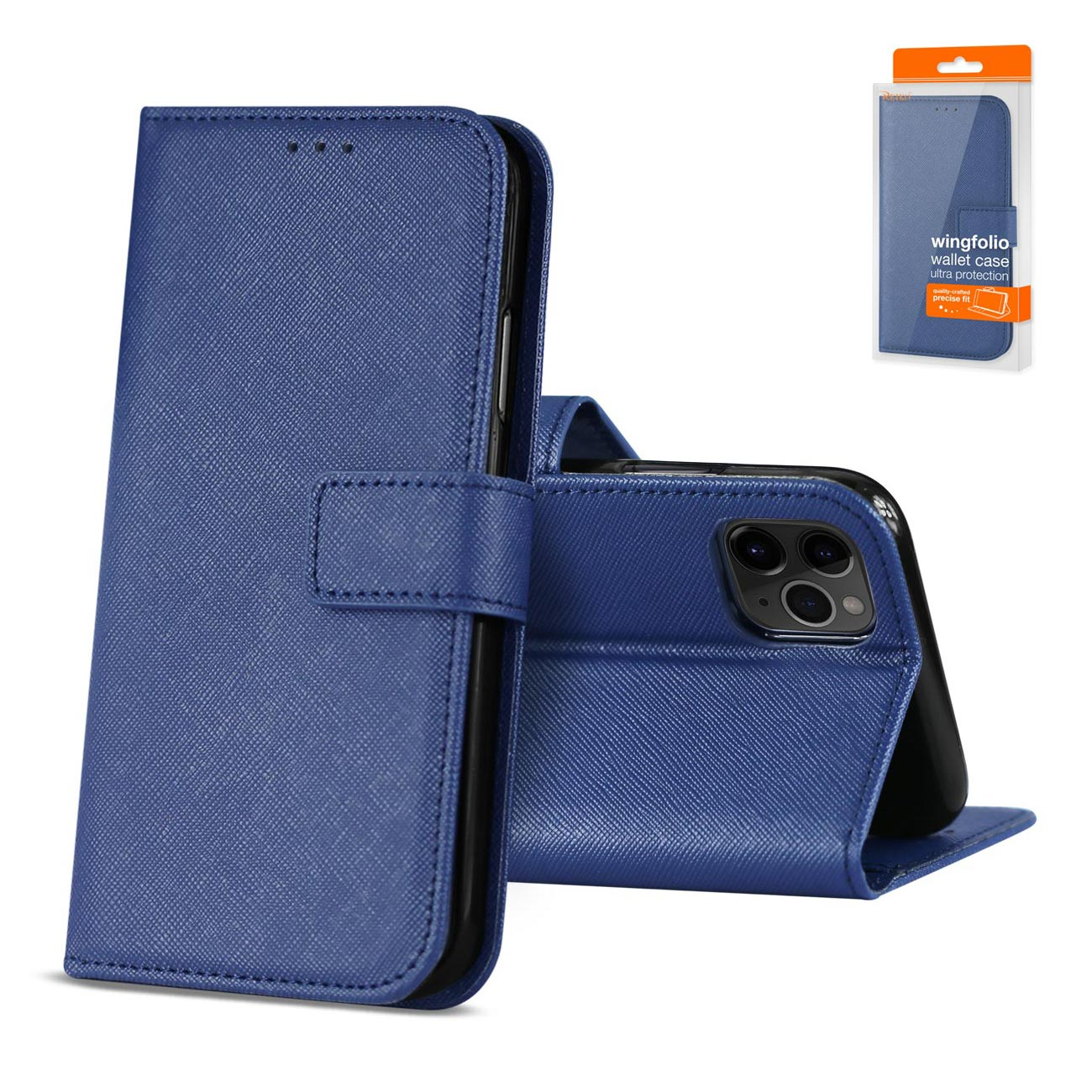 Reiko APPLE IPHONE 11 PRO 3-In-1 Wallet Case In BLUE