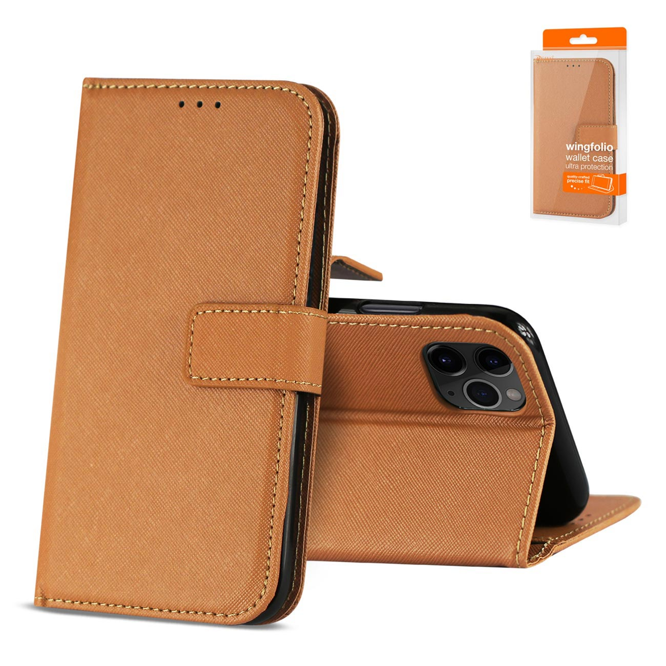 APPLE IPHONE 11 PRO 3-In-1 Wallet Case In BROWN