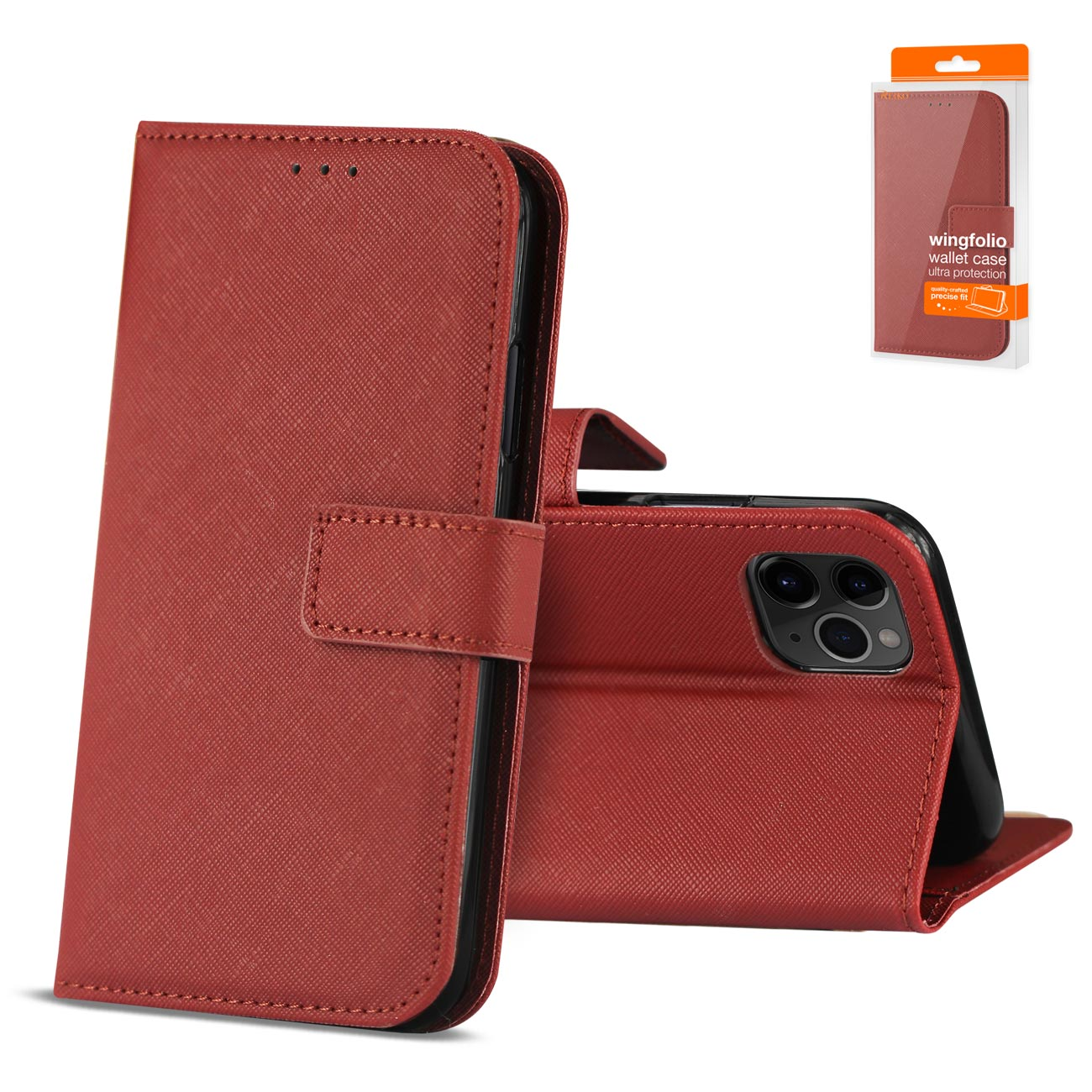 Reiko APPLE IPHONE 11 PRO 3-In-1 Wallet Case In RED
