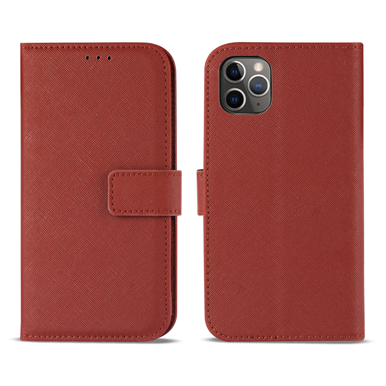 APPLE IPHONE 11 PRO 3-In-1 Wallet Case In RED