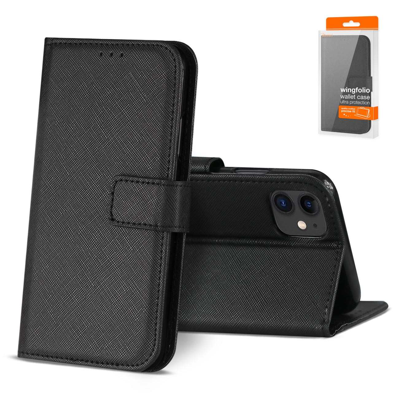 APPLE IPHONE 11 3-In-1 Wallet Case In BLACK