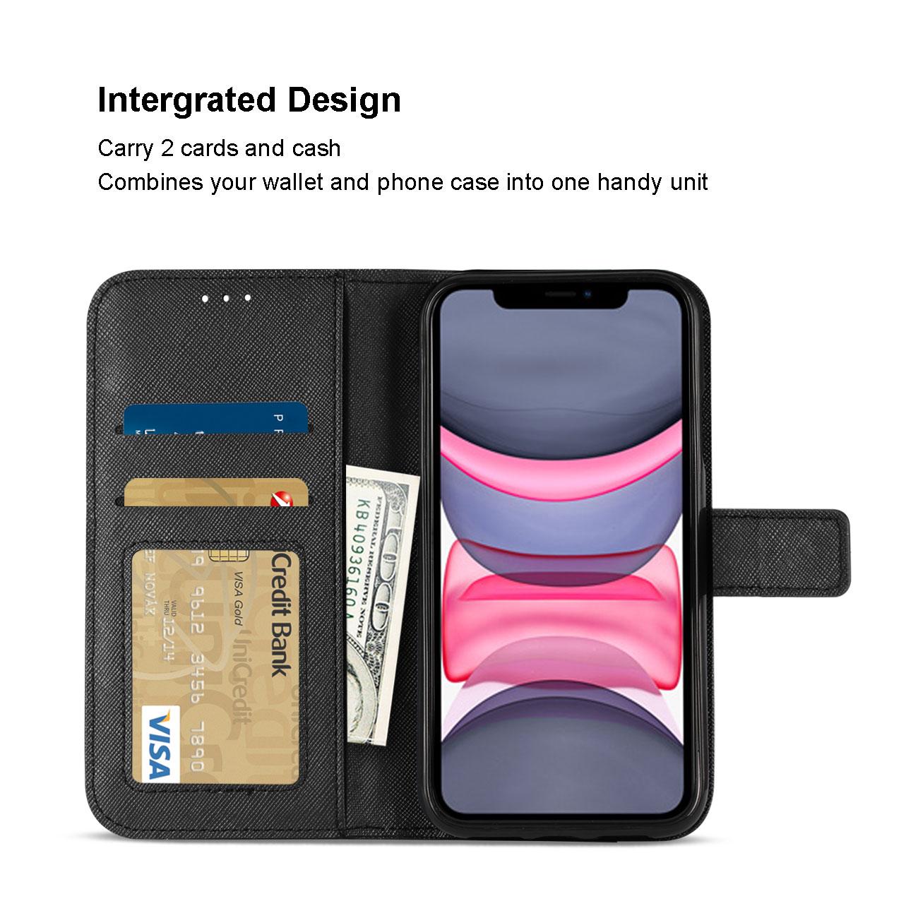 APPLE IPHONE 11 3-In-1 Wallet Case In BLACK