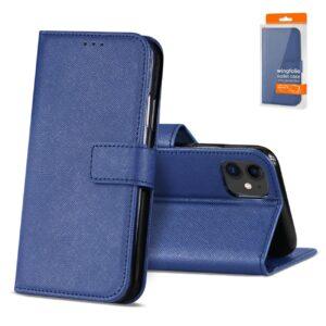 Reiko APPLE IPHONE 11 3-In-1 Wallet Case In BLUE