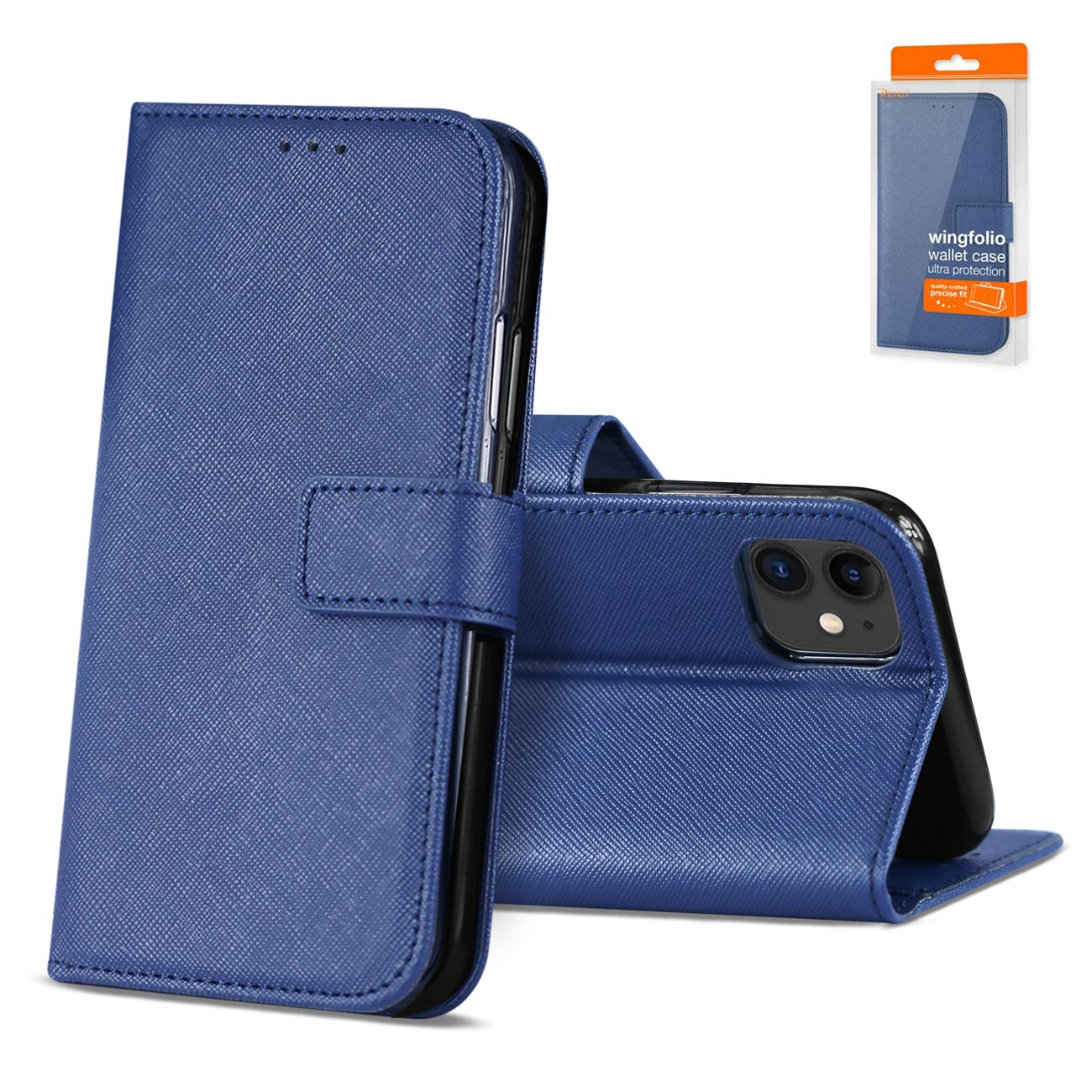 Reiko APPLE IPHONE 11 3-In-1 Wallet Case In BLUE