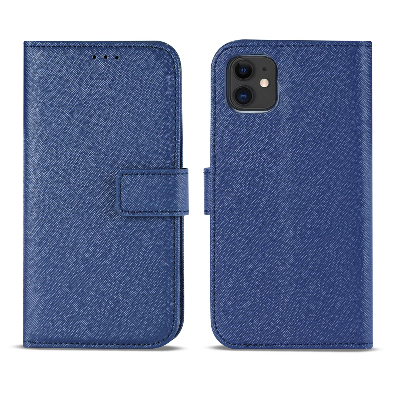 APPLE IPHONE 11 3-In-1 Wallet Case In BLUE