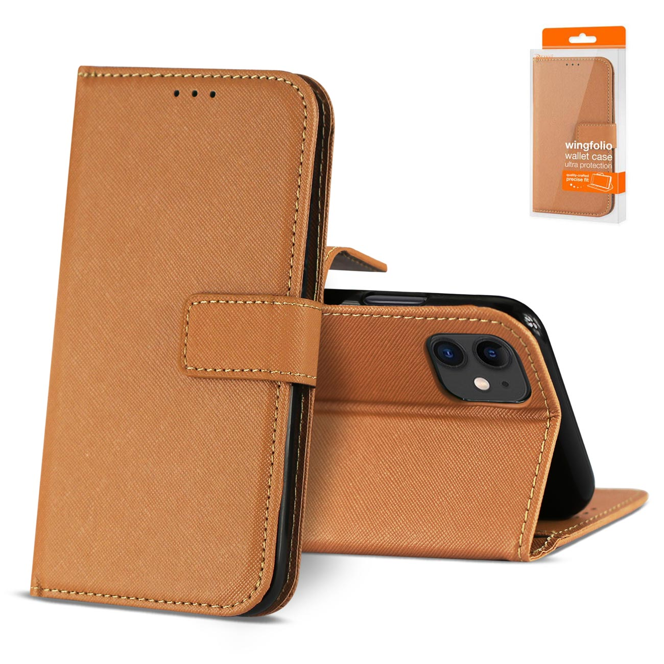 APPLE IPHONE 11 3-In-1 Wallet Case In BROWN