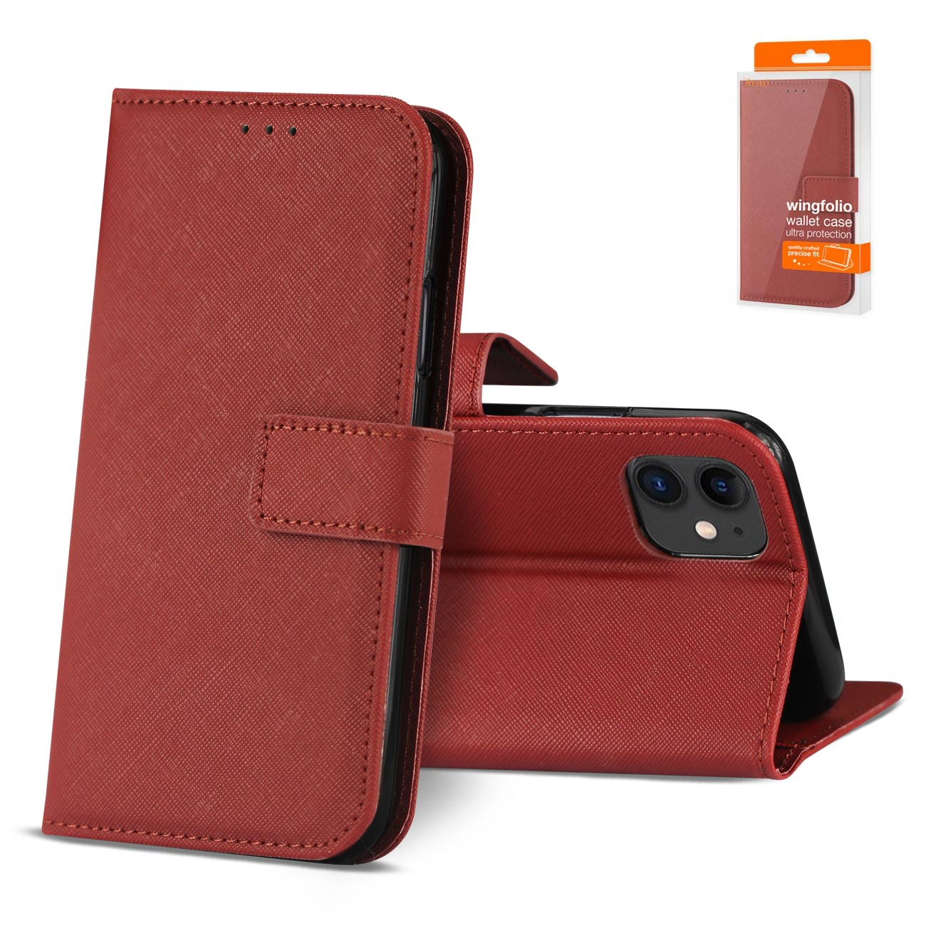 Reiko APPLE IPHONE 11 3-In-1 Wallet Case In RED