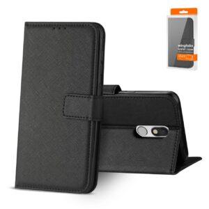 Reiko LG STYLO 5 3-In-1 Wallet Case In BLACK