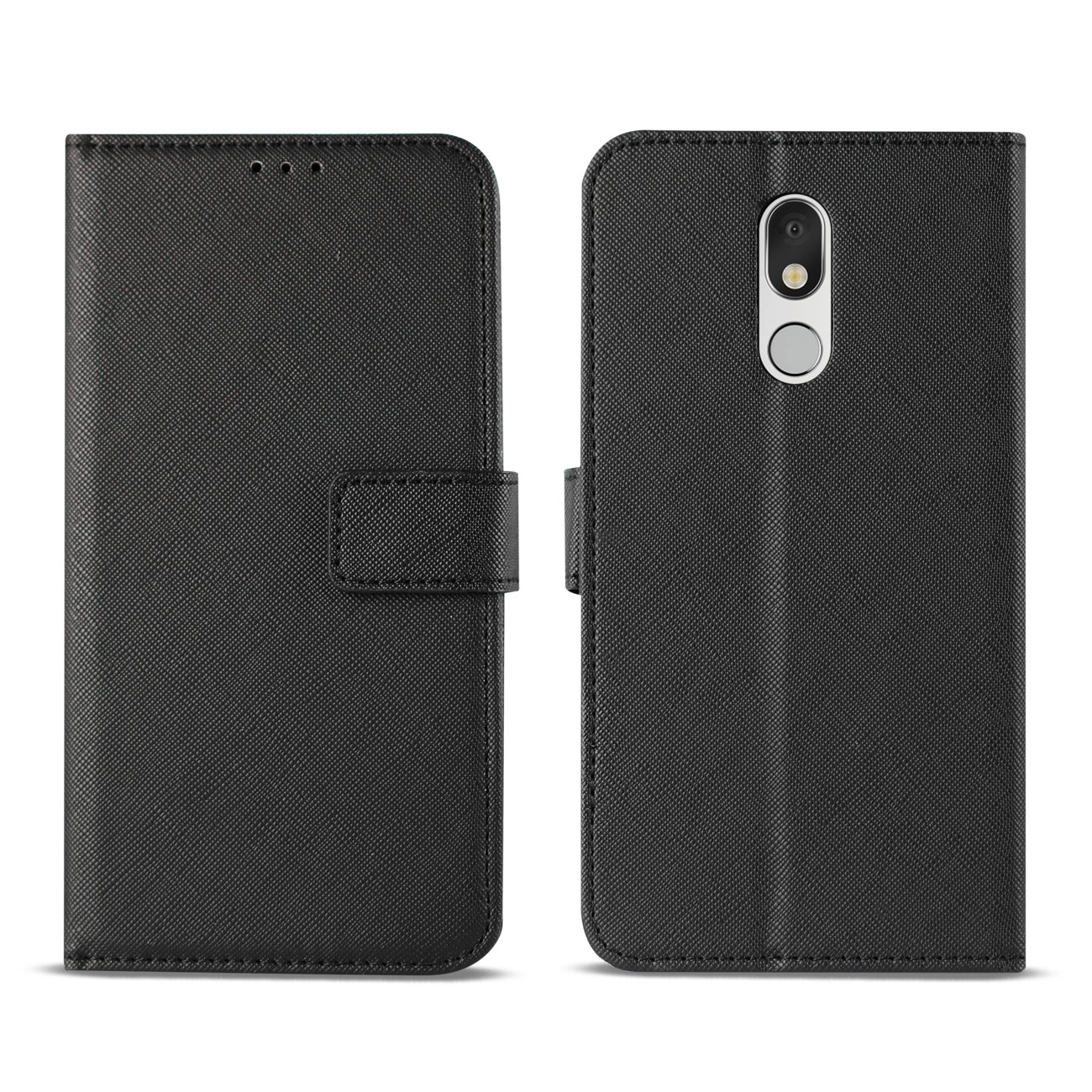 LG STYLO 5 3-In-1 Wallet Case In BLACK