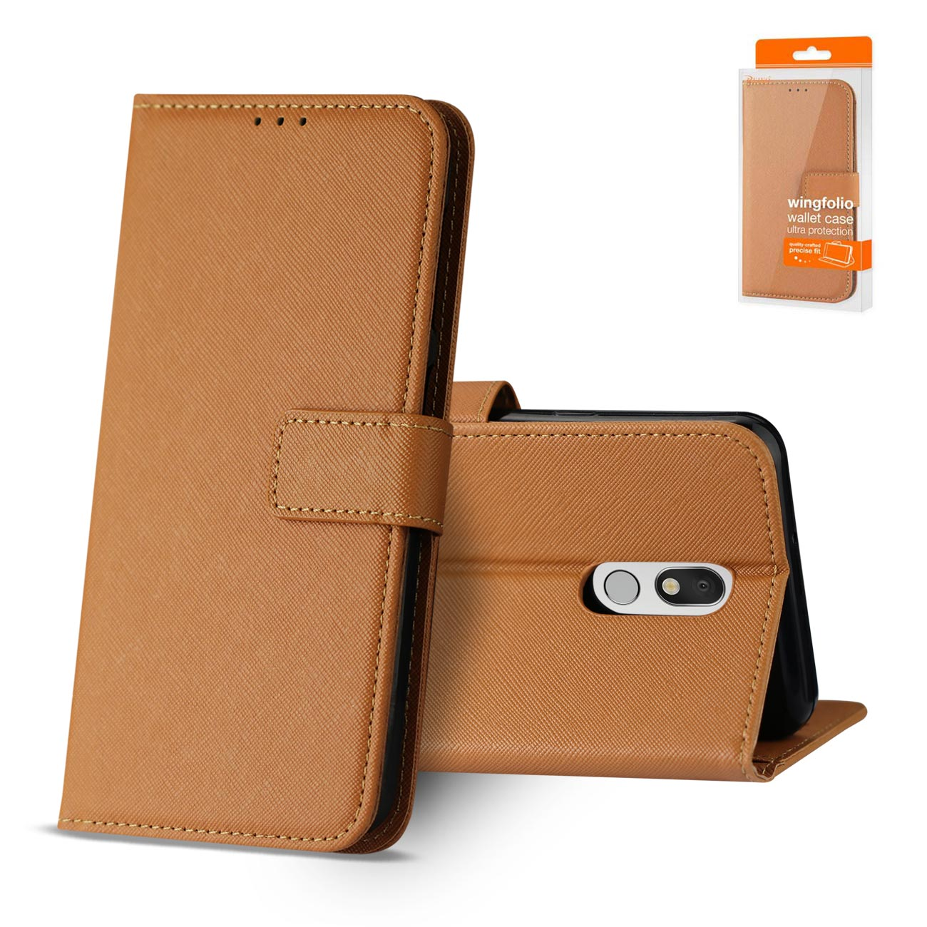 LG STYLO 5 3-In-1 Wallet Case In BROWN