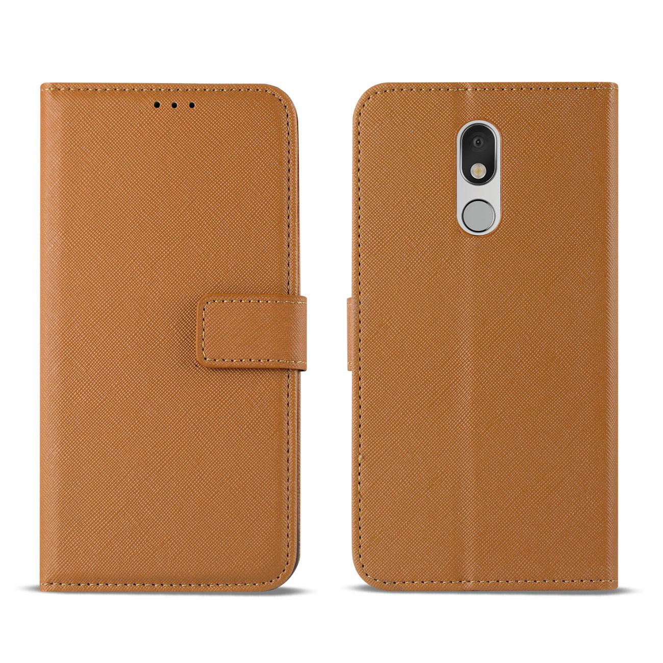 LG STYLO 5 3-In-1 Wallet Case In BROWN