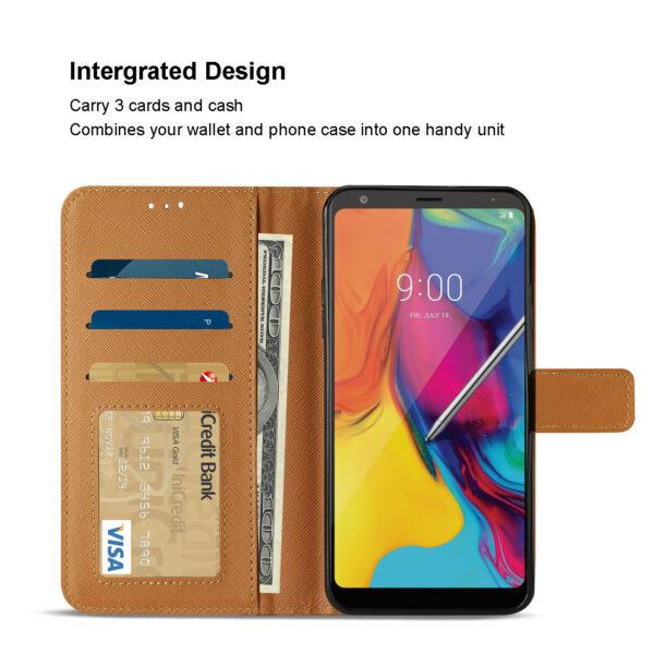 Reiko LG STYLO 5 3-In-1 Wallet Case In BROWN