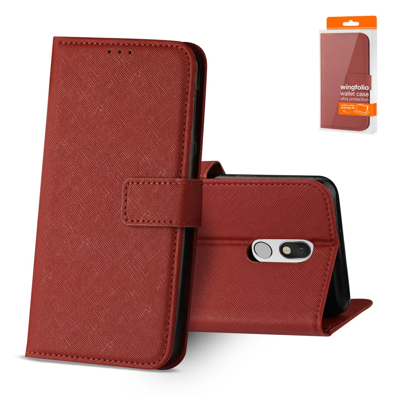LG STYLO 5 3-In-1 Wallet Case In RED