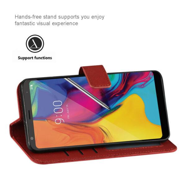 Reiko LG STYLO 5 3-In-1 Wallet Case In RED