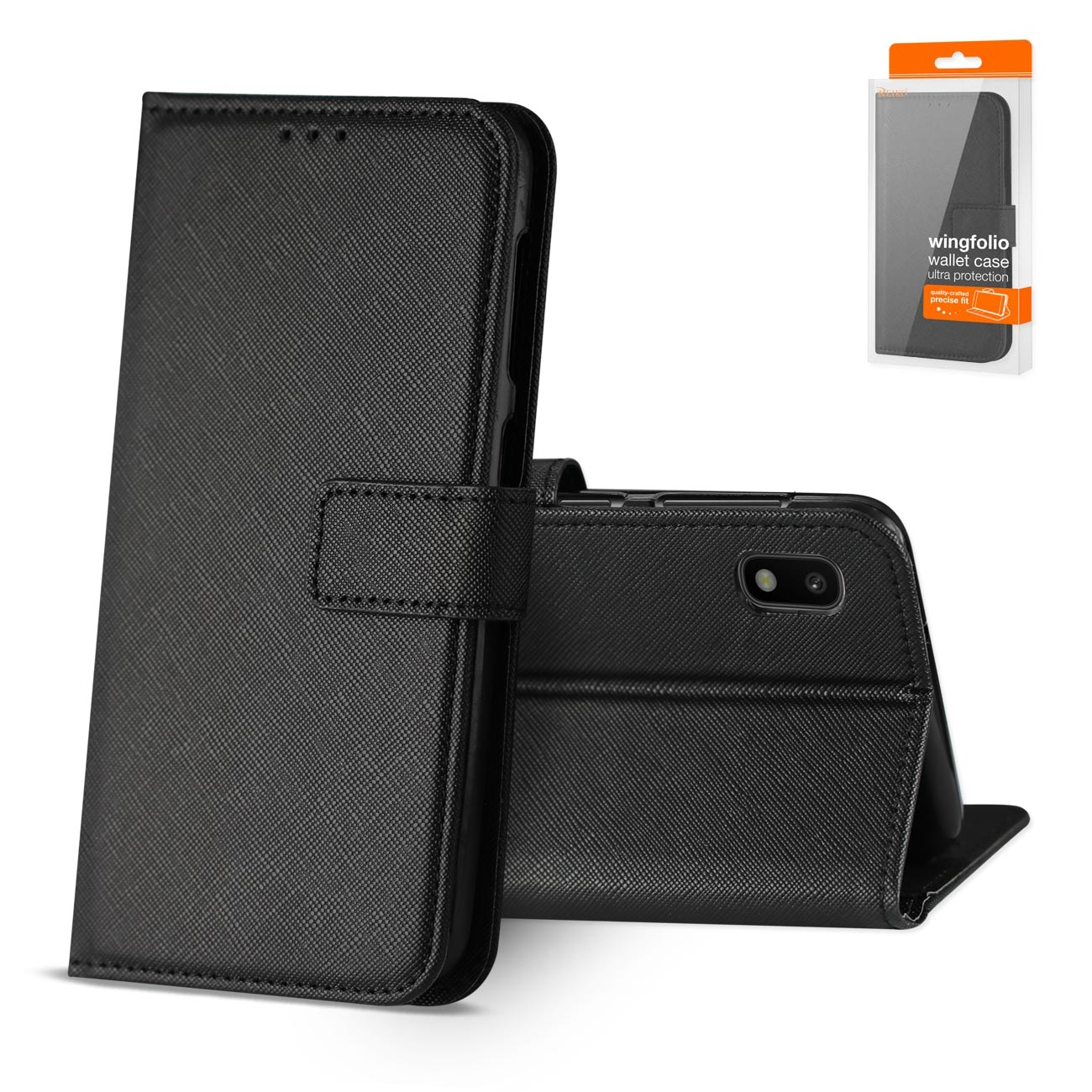SAMSUNG GALAXY A10 3-In-1 Wallet Case In BLACK