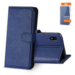 Reiko SAMSUNG GALAXY A10 3-In-1 Wallet Case In BLUE