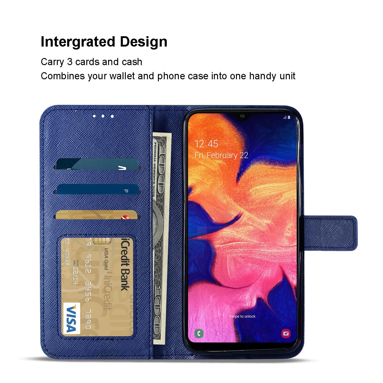 SAMSUNG GALAXY A10 3-In-1 Wallet Case In BLUE