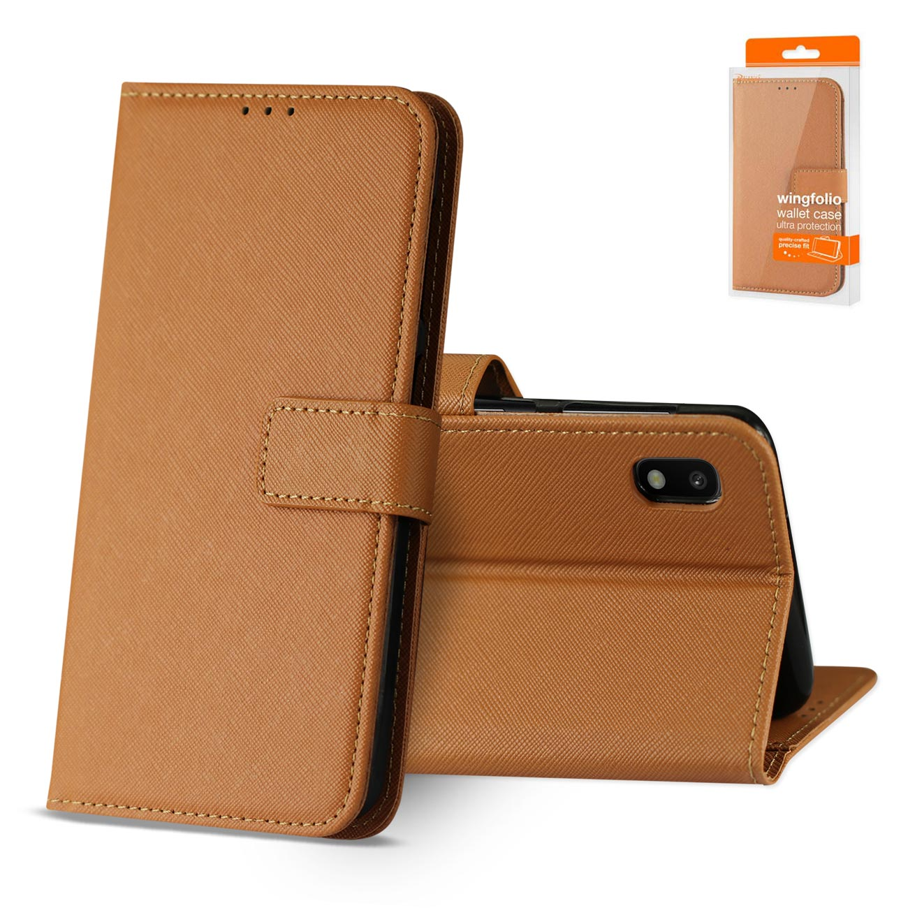 SAMSUNG GALAXY A10 3-In-1 Wallet Case In BROWN