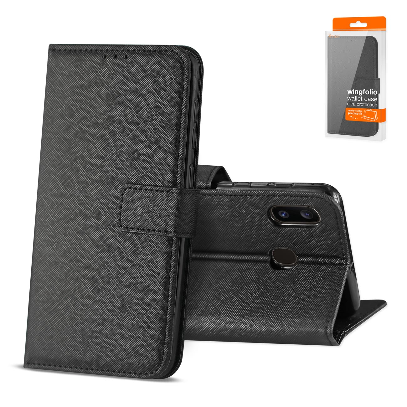 SAMSUNG GALAXY A10E 3-In-1 Wallet Case In BLACK