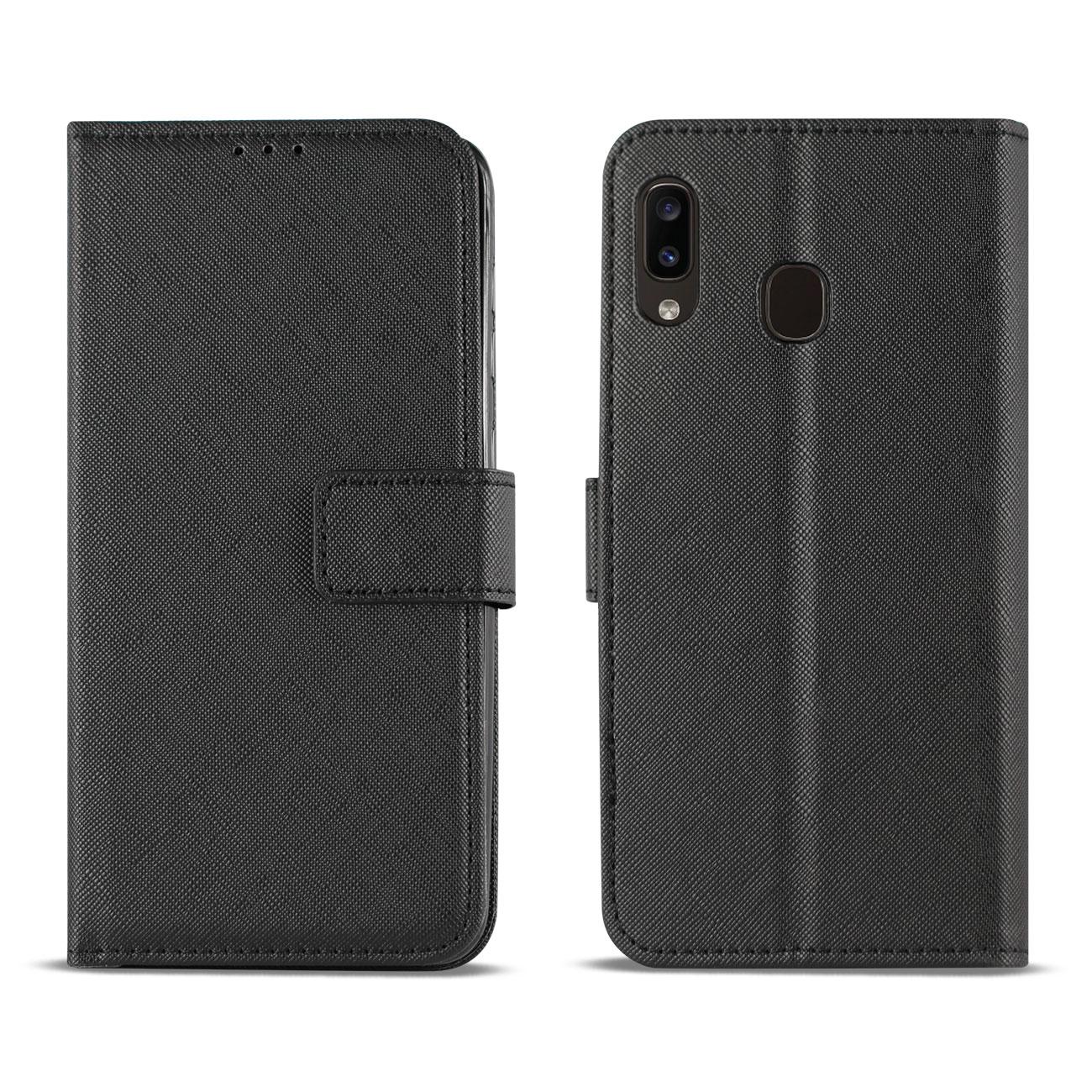 SAMSUNG GALAXY A10E 3-In-1 Wallet Case In BLACK