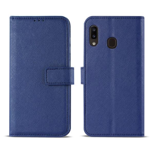 Reiko SAMSUNG GALAXY A10E 3-In-1 Wallet Case In BLUE