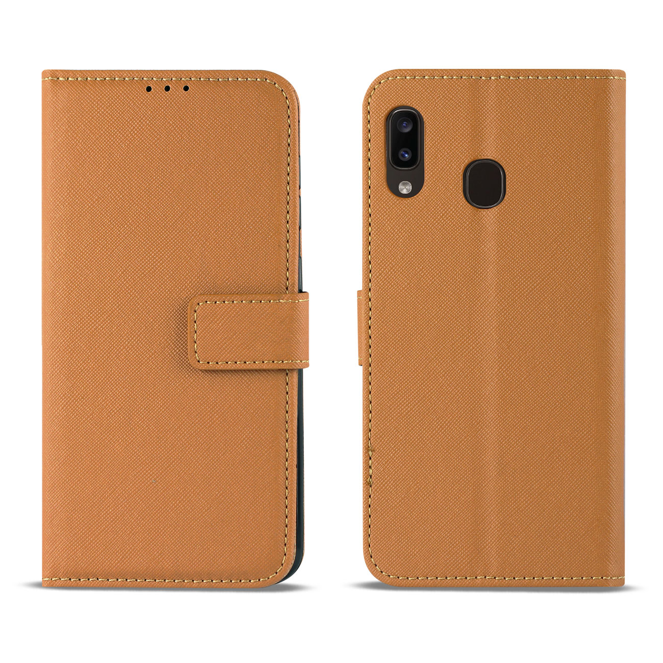 SAMSUNG GALAXY A10E 3-In-1 Wallet Case In BROWN