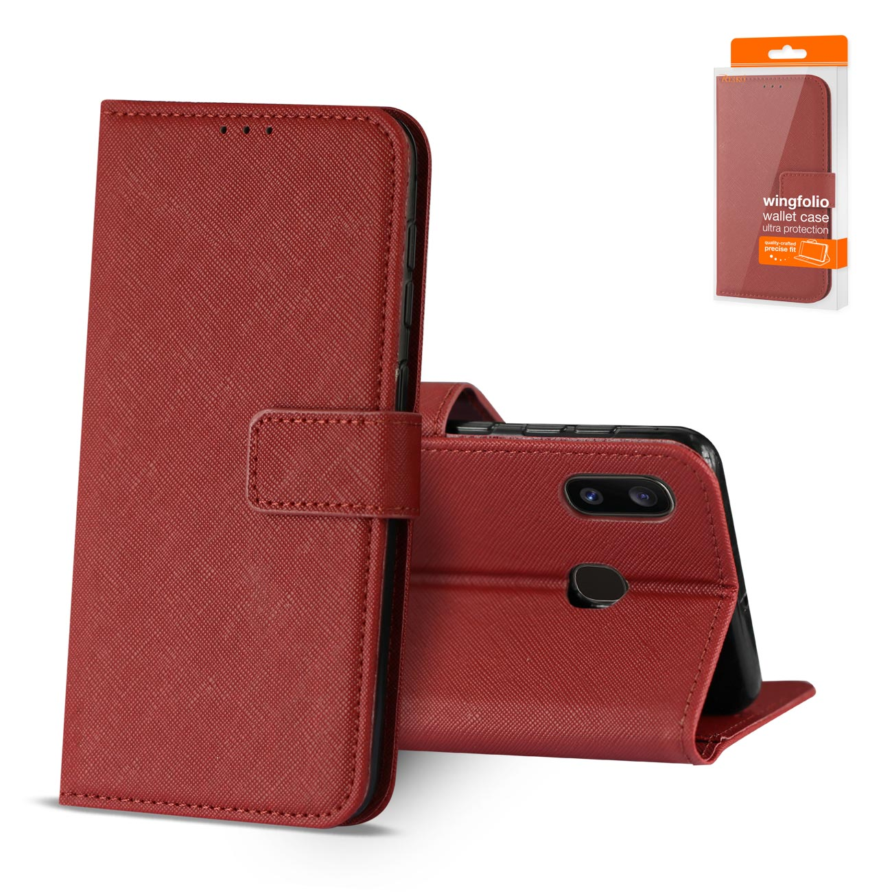 SAMSUNG GALAXY A10E 3-In-1 Wallet Case In RED