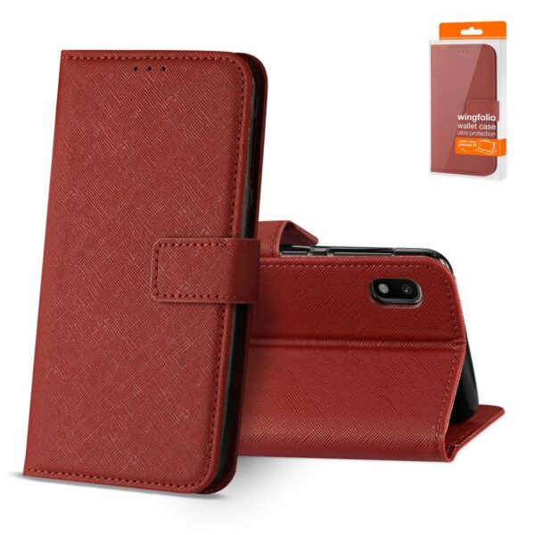 Reiko SAMSUNG GALAXY A10 3-In-1 Wallet Case In RED