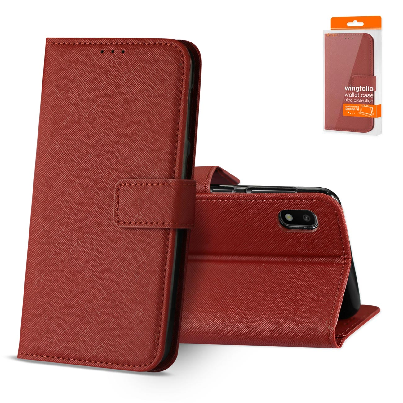 SAMSUNG GALAXY A10 3-In-1 Wallet Case In RED