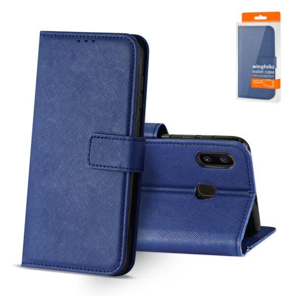 Reiko SAMSUNG GALAXY A20 3-In-1 Wallet Case In BLUE