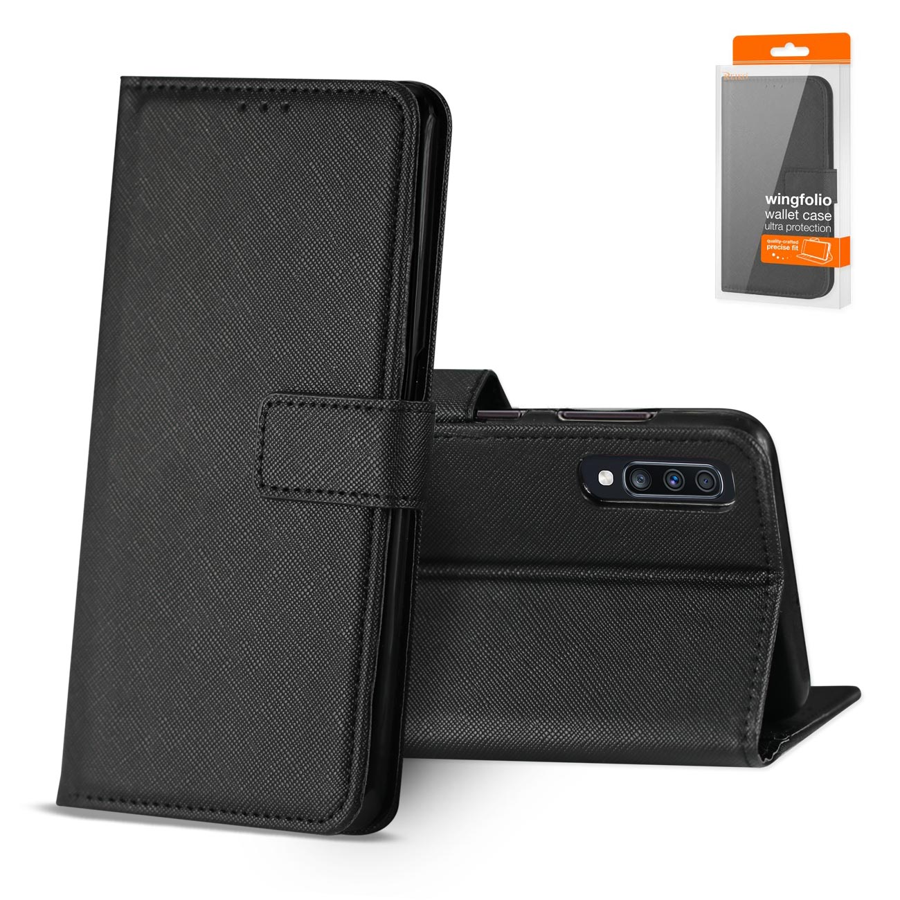 SAMSUNG GALAXY A70 3-In-1 Wallet Case In BLACK