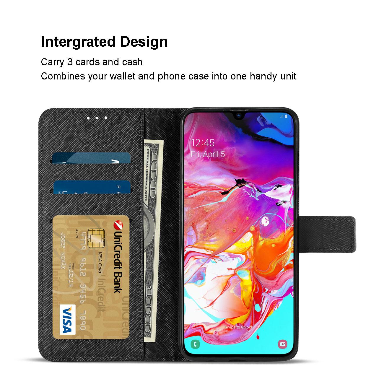 SAMSUNG GALAXY A70 3-In-1 Wallet Case In BLACK