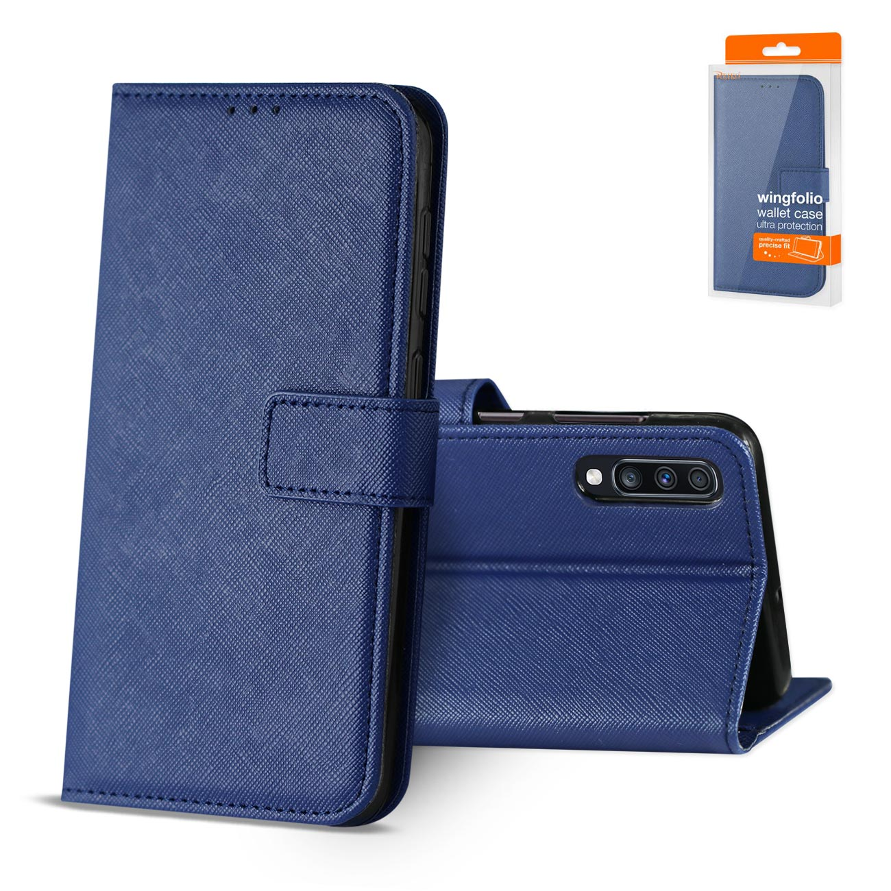 SAMSUNG GALAXY A70 3-In-1 Wallet Case In BLUE