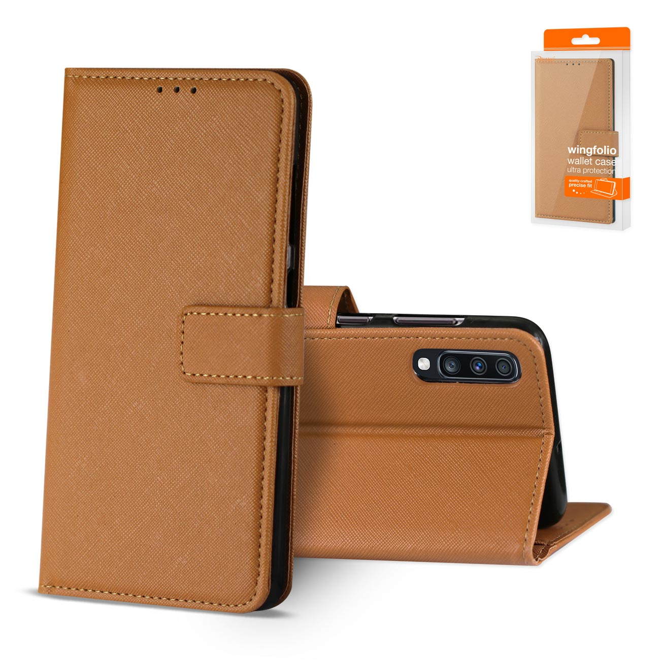 SAMSUNG GALAXY A70 3-In-1 Wallet Case In BROWN