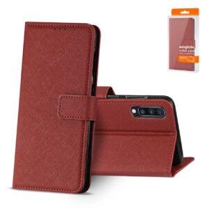 Reiko SAMSUNG GALAXY A70 3-In-1 Wallet Case In RED