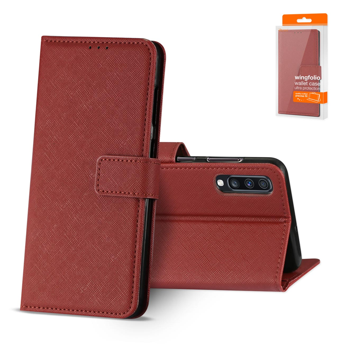 SAMSUNG GALAXY A70 3-In-1 Wallet Case In RED