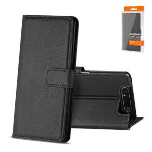 Reiko SAMSUNG GALAXY A80 3-In-1 Wallet Case In BLACK