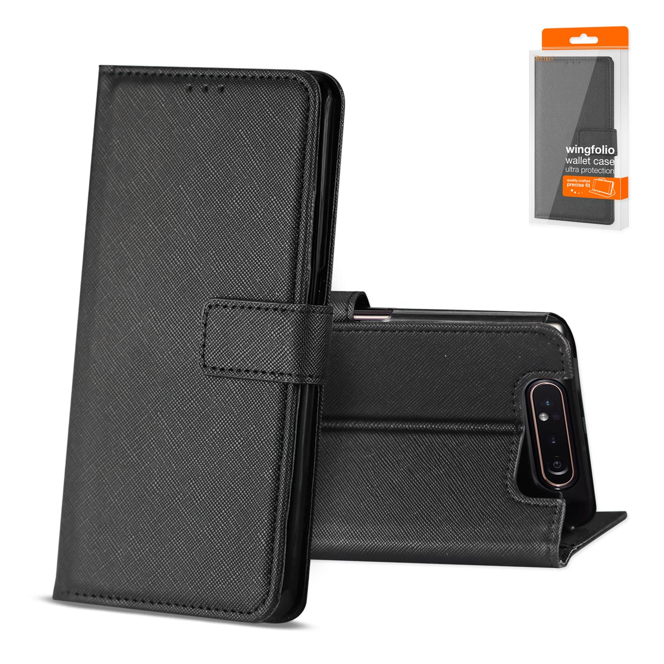 SAMSUNG GALAXY A80 3-In-1 Wallet Case In BLACK