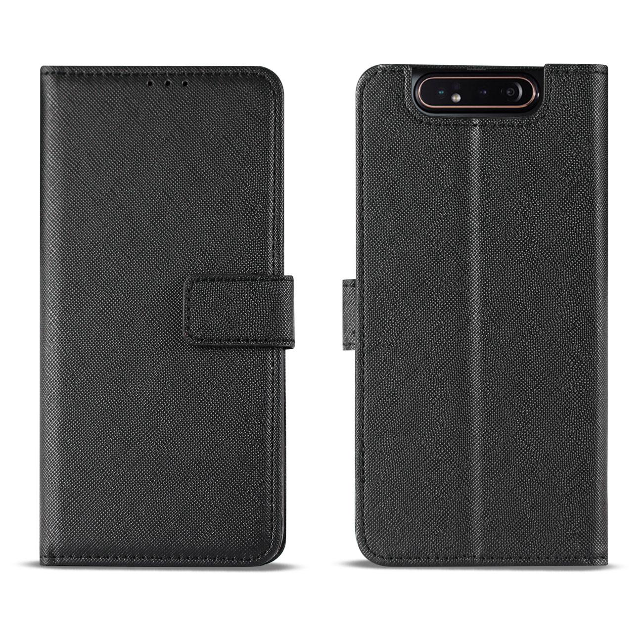 SAMSUNG GALAXY A80 3-In-1 Wallet Case In BLACK