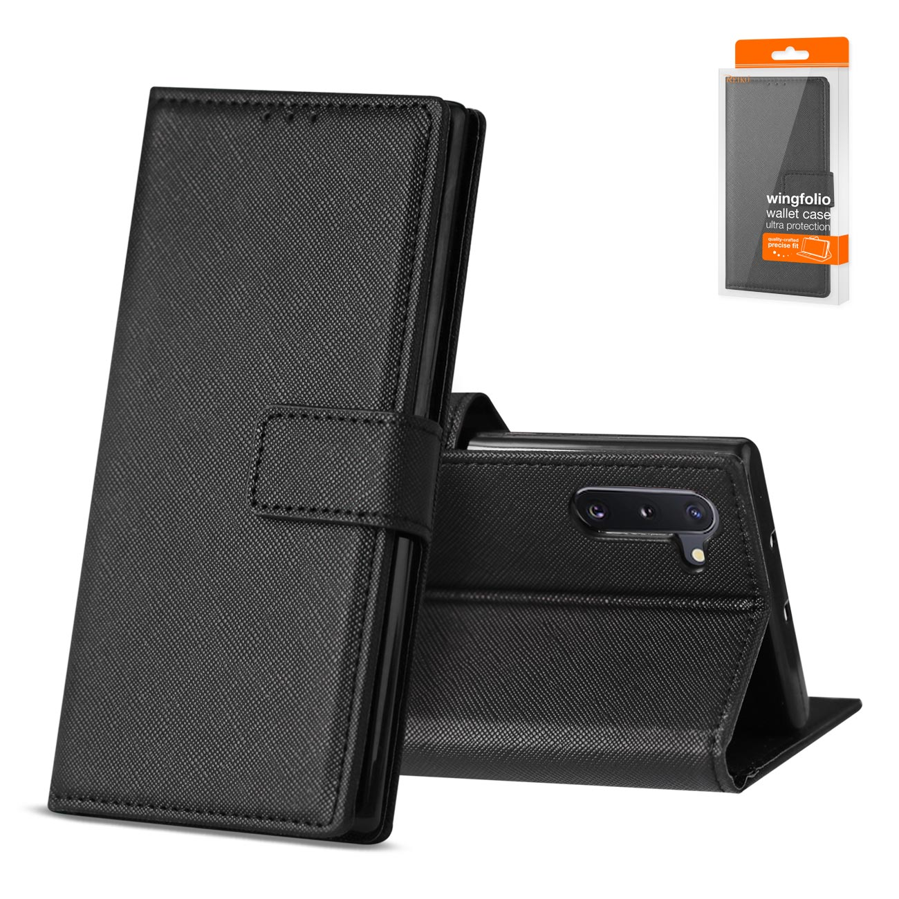 SAMSUNG GALAXY NOTE 10 3-In-1 Wallet Case In BLACK
