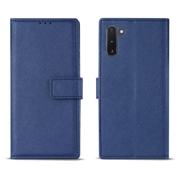 Reiko SAMSUNG GALAXY NOTE 10 3-In-1 Wallet Case In BLUE