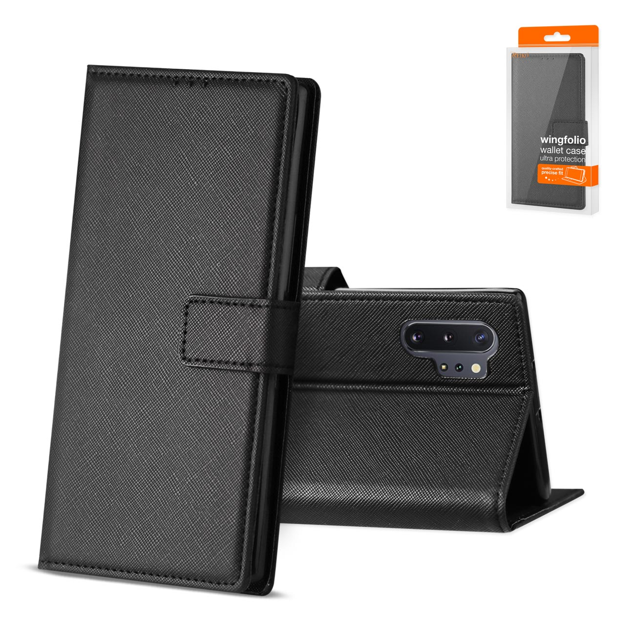 SAMSUNG GALAXY NOTE 10 PLUS 3-In-1 Wallet Case In BLACK