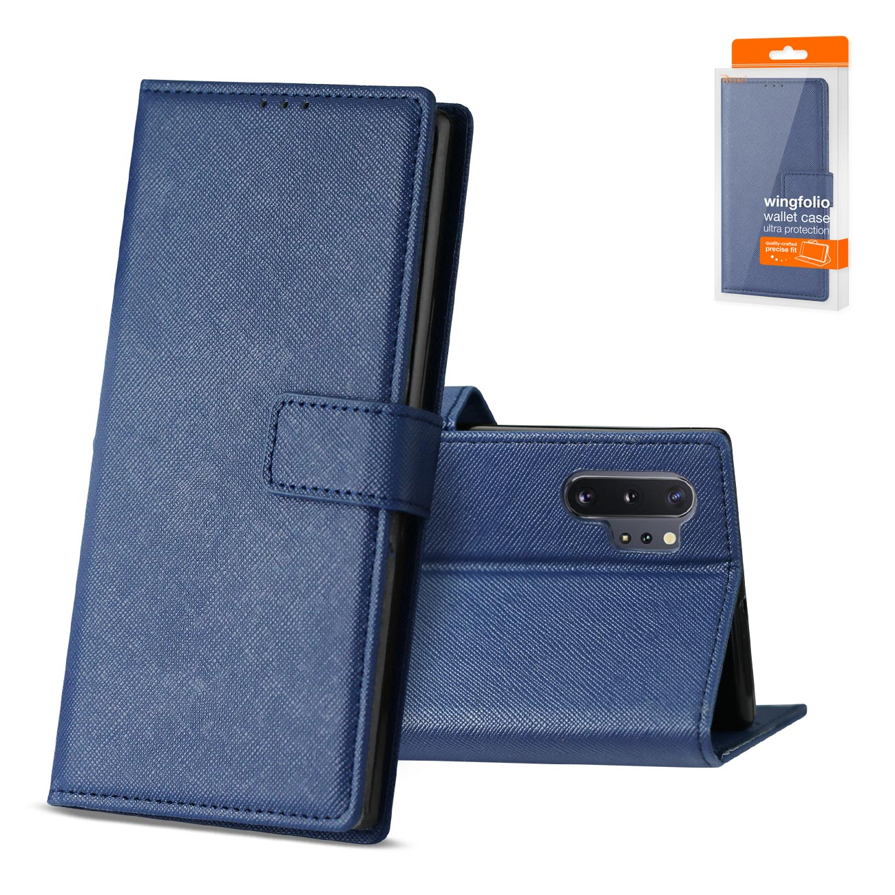 SAMSUNG GALAXY NOTE 10 PLUS 3-In-1 Wallet Case In BLUE