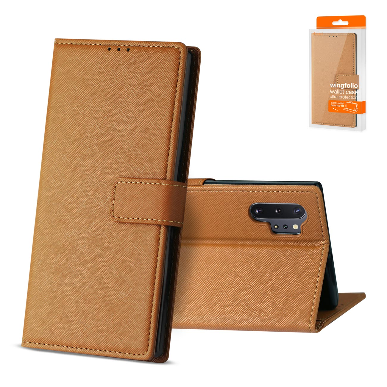 SAMSUNG GALAXY NOTE 10 PLUS 3-In-1 Wallet Case In BROWN