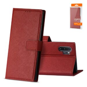 Reiko SAMSUNG GALAXY NOTE 10 PLUS 3-In-1 Wallet Case In RED