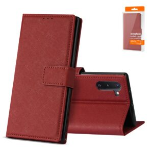 Reiko SAMSUNG GALAXY NOTE 10 3-In-1 Wallet Case In RED