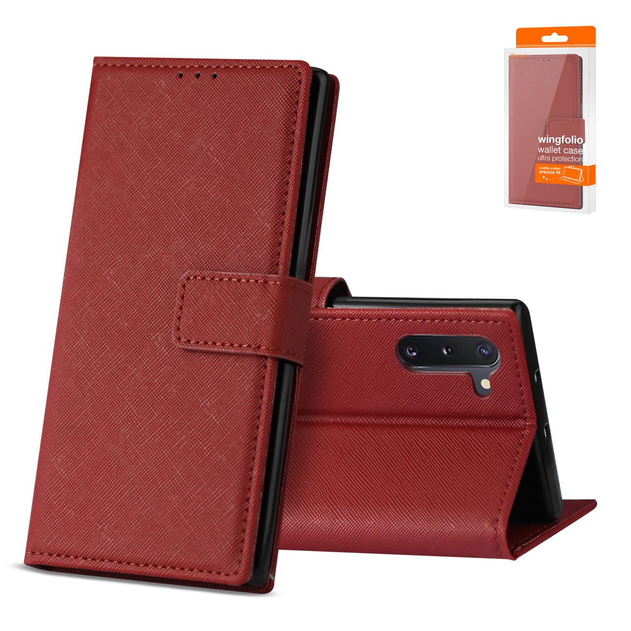 SAMSUNG GALAXY NOTE 10 3-In-1 Wallet Case In RED