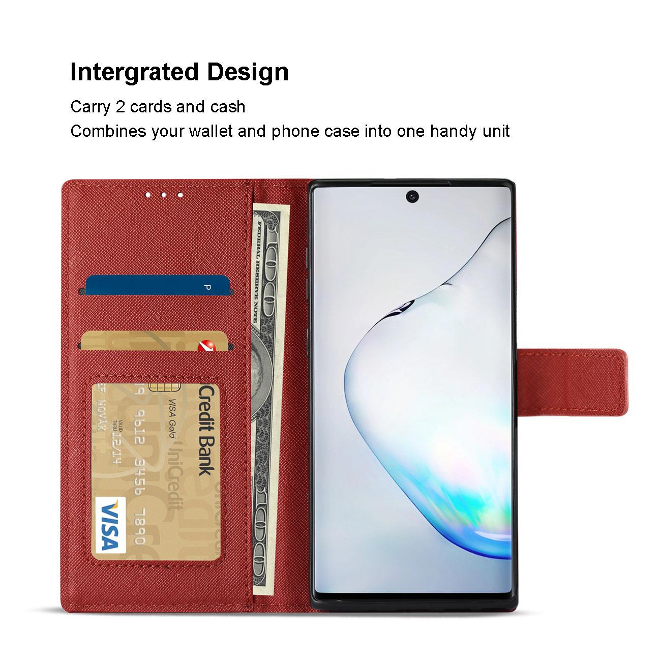 SAMSUNG GALAXY NOTE 10 3-In-1 Wallet Case In RED