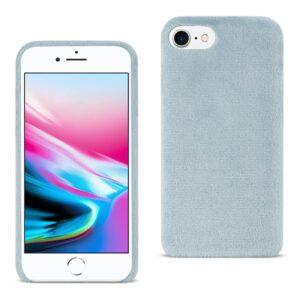 Reiko iPhone 8/ 7 Fuzzy Fur Soft TPU Case In Gray