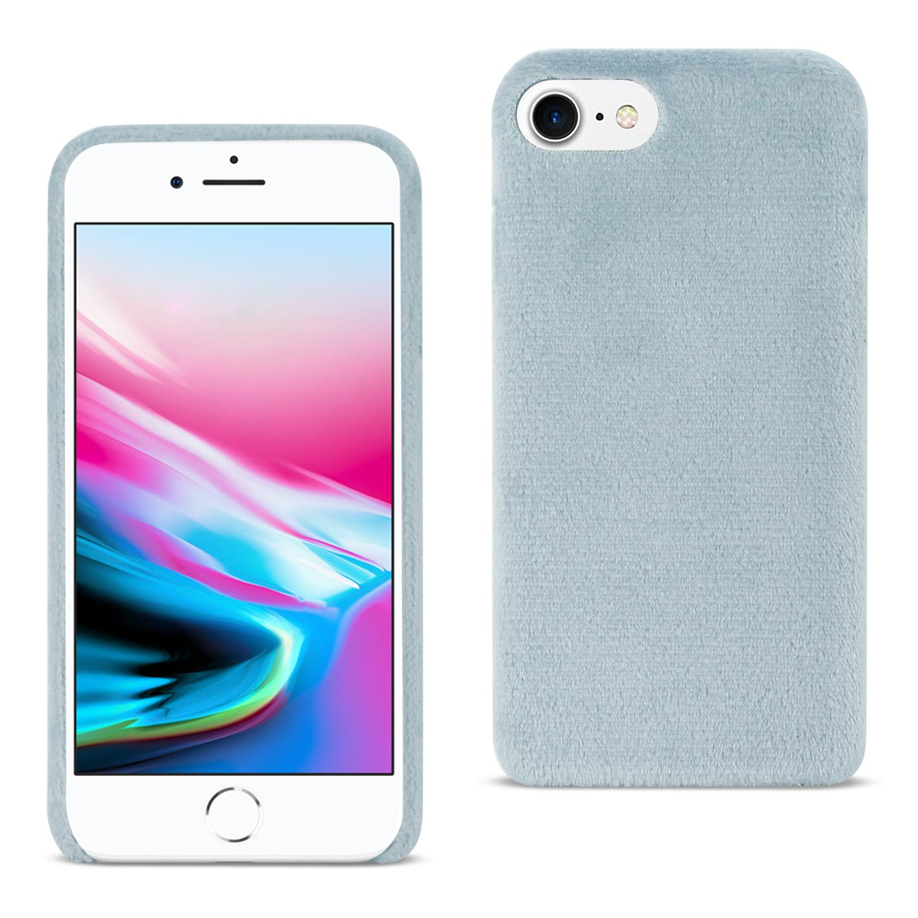 iPhone 8/ 7 Fuzzy Fur Soft TPU Case In Gray